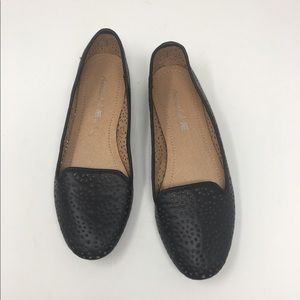American Eagle Black Perforated Flats Shoes Sz 7